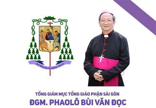 Cáo phó: Đức Tổng Giám Mục Phaolo Bùi Văn Đọc – TGP Sài Gòn
